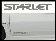 TOYOTA STARLET CAR BODY DECALS